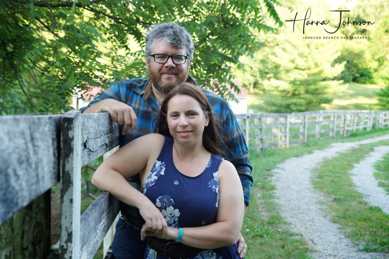 Cynthiana, Kentucky engagement session with horse fence and barn lot